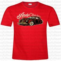 camisas vermelhas dos homens do design venda por atacado-Body Electric Mens do projeto Andy Red manga curta Tops Moda em torno do pescoço T Tamanho S M L XL 2XL 3XL