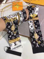 ingrosso chain print scarf-Sciarpa di seta stampata della sciarpa della borsa della sciarpa di cuoio stampata catena di marca e comoda collocazione trasporto libero