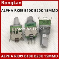 15mm welle großhandel-[BELLA] Taiwan importiert ALPHA alpha RK09 Präzisionspotentiometer B10K B20K B50K Einzelne gebogene Fußschaftlänge 15MM - 10PCS / LOT