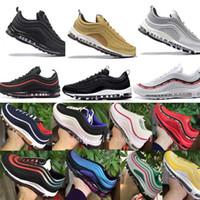zapatos de color oro de las mujeres al por mayor-Nike Air Max 97 Airmax 97 air 97 mujeres zapatos deportivos Nuevo estilo de color descuento zapatillas de deporte zapatos tamaño Eur36-45