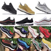 ingrosso pattini di colore dell'oro delle donne-Nike Air Max 97 Airmax 97 air 97 per gli uomini e le donne scarpe sportive nuove scarpe da ginnastica stile di colore sconto scarpe Eur36-45