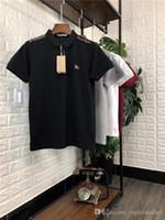 polo men xxxl al por mayor-19ss Nuevo diseño de marca de lujo bbr bordado logo letras POLO Camisa Hombres Mujeres Moda casual Streetwear Sudaderas camisas al aire libre