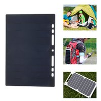 Wholesale 5v solar panel charger resale online - 5W V mA Solar Cell Solar Panel Powerbank for V Phone Battery Charger Hanging on Notebook Backpack