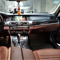 konsolenaufkleber großhandel-Auto-Styling Neue 3D / 5D Kohlefaser Interieur Mittelkonsole Farbwechsel Form Aufkleber für BMW 5er Reihe F10 2011-18