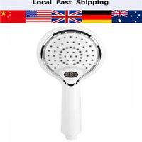 Wholesale digital shower controls resale online - Handheld Bathroom Shower Spray Head Digital Temperature Display Colors LED
