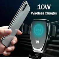 lg telefones celulares venda por atacado-2020 Hot venda carregador de carro sem fio Mount 10W rápido Qi Car Charger Air Vent Phone Holder para o iPhone XS MAX XS 8 Plus Samsung Galaxy S10