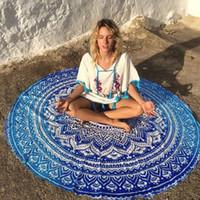 Wholesale woman towel cover up dress resale online - 2017 Summer Women Dress Round Tassel Tapestry Beach Throw Mandala Towel Yoga Mat Round Beach Cover Up pareo