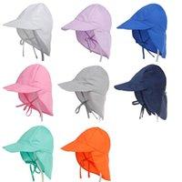 baby-winter-cap-designs großhandel-Neuer Entwurf Baby-Mädchen-Kappen-Sonnenschutz-Schwimmen-Hut-Blumenkindersonnenschutz-Hut-Freienkappe ultravioletter Headwear-Baby-Körper Sunhats