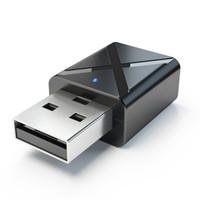bluetooth беспроводной аудио передатчик для телевизора оптовых-Bluetooth 5.0 аудио приемник передатчик мини 3.5 мм AUX стерео Bluetooth передатчик для ТВ PC беспроводной адаптер для автомобиля
