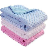 tül çorapları toptan satış-Yeni tasarım toddler sıcak Battaniye düz renk yumuşak polar uyku tulumu çocuklar uyku çuval ücretsiz kargo