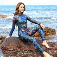 yüzme neopren kıyafeti toptan satış-Kadın Wetsuits 3mm Neopren Elastik Yüzme Sörf Spearfishing Suit Kadın Mayo Equipent Dalış Giysileri