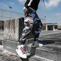 lápis japoneses venda por atacado-Mens Jogger Outono Lápis Harem Pants Calças de Carga Tático Masculino Multi-bolso Hip-hop Japonês Harajuku calças de camuflagem