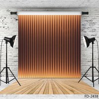 Wholesale vertical paintings for sale - Group buy wooden floor vertical strip vinyl photography background for photo shoot X7ft cloth backdrop for children baby wedding photo shootings