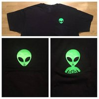 camisetas lemas al por mayor-Dedo medio Verde Alien Pocket T-Shirt Casual Alien Slogan Tops Girl Pocket Alien Camiseta popular Estética Moda Hipster camiseta