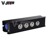 Wholesale led light strip for sale - 4 Port Powercon Power Box Powercon Splitter Box Stage Cable Lead Power powerCON TRUE1 Splitter Strip x4 with Pass Through for Stage light