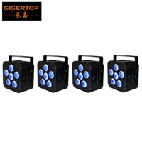 led-netzteil großhandel-Freeshipping 4 Maßeinheiten 6 * 18W 6IN1 RGBAW UVfreedoom Hex batteriebetriebenes drahtloses Profil LED