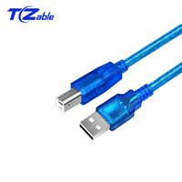 Wholesale usb printer extension cable online - Extended Printer Cable USB Male To Public Computer Converter Connector For Computer PC Laptop USB Data Extension Cable