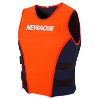 Wholesale life jackets for adults resale online - 1pcs Univesal Adults Life Jacket Neoprene Safety Life Vest for Water Ski Wakeboard Swimming