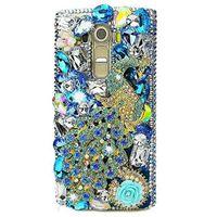 tavuskuşu davaları toptan satış-Peacock Kılıf Samsung Galaxy S10 Artı J4 J6 J7 J8 Artı 2018 Elmas Durumda Lüks Rhinestone Taş A7 2018 A750 Mücevherli Durumda