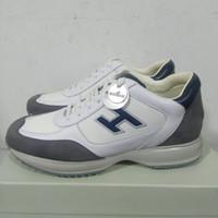 italienische lederne turnschuhe männer großhandel-neue italienische interaktive Turnschuhe Designer Marken Schuhe Herren Mode Schuhe Luxus Leder Freizeitschuhe Top-Qualität