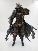 Wholesale red batman figure resale online - Play Arts Batman Red Variant Anime Figure Action Figures Collectible Moble Hot Toys Birthdays Gifts Doll Hot Sale