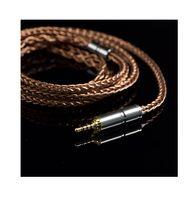 kablo olayı toptan satış-6N 400 çekirdek kulaklık OCC kablosu 2.5mm 3.5mm DIY kablo meraklıları MMCX değiştirilebilir Hifi Kulaklık yükseltme kablosu DM6