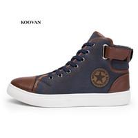 Wholesale boys half boot resale online - Koovan Men s Canvas Sneakers Simple Versatile Large Size High Top Men s Shoes Lovers Casual Shoes Boots for boys