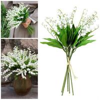 жесткие пластиковые цветы оптовых-Искусственный цветок перезвон ветра жесткий пластик чистая белая горная долина маленькая лилия поддельные цветы свадебные украшения праздничные атрибуты 1 99sbE1