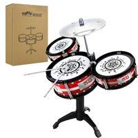 tambores de percusión al por mayor-Thicken Kit de batería para niños Musicalidad Entrenamiento Batería Educación temprana Instrumentos de percusión Principiante Niños niños Práctica de alta calidad 15bg D1