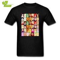 reina camisetas al por mayor-Rupaul's Drag Race Queens camiseta Teenage New Simple Tee Shirts Cool camiseta suelta hombre manga corta personalizada Teenboys Top