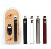 e cig mod kupfer großhandel-LAW Vorwärmen VV Vape Pen 1100mAh Akku mit USB-Ladegerät Variable Voltage Vorwärmen des Akkus 510 Thread Battery Starter Kits 3x Blister Pack