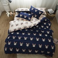 Wholesale boys full size bedding online - Cute cats kawaii Bedding set king queen twin size kids boys bed room ser cotton duvet cover set bed sheet set pillowcase