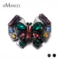 Wholesale butterfly crystal brooch for sale - Group buy eManco Vintage Items Crystal Animal Butterfly Brooch for Women Rhinestone alloy Fashion Jewelry Accessories Y200323