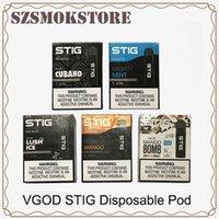 ego ce4 starter kit preis großhandel-VGOD STIG Einweg Pod Gerät 3 Teile / paket 270 mAh Batterie 1,2 ml Patrone Vape Pen Kit 0268107-