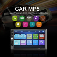 Wholesale 2019 B quot Inch DOUBLE DIN Car MP5 Player BT Touch Screen Stereo Radio Multimedia player MP5 With Direction Control car dvd