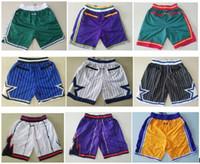 mejores pantalones de hombre al por mayor-La mejor calidad 2019 Nuevos pantalones cortos Pantalones de equipo Pantalones cortos para hombres de la vendimia Pantalones cortos de bolsillo con cremallera Pantalones deportivos Pantalones de múltiples bolas Transpirables