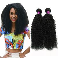 kıvırcık mongolian insan saç örgüsü toptan satış-4 adet Moğol Brezilyalı Kinky Kıvırcık Saç Örgü Demetleri Afro Moğol Kinky Kıvırcık İnsan Saç Uzantıları Brezilyalı Kinky Kıvırcık Saç W ...