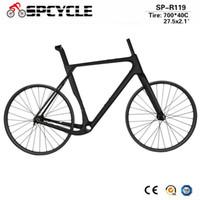 paire de roues vtt carbone achat en gros de-Vélos de vélo de gravier de vélo de cyclocross de route de plein carbone 27.5er VTT Wheelset de Novatec D791SB / 792SB hubs 142 * 12mm par l'axe
