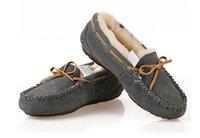 design botas sapatos mulheres venda por atacado-Hot Sale-Top Hot vender Novo design Clássico Austrália EUA GS baixo inverno Quente sapatos botas de couro Real bowknot neve das mulheres botas de lazer sapatos