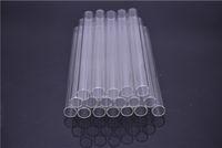 pailles épaisses achat en gros de-Tube de paille en verre Pyrex Love Rose Glass Tube de brûleur à mazout Pipe à huile Tuyaux en verre épais - 15cm