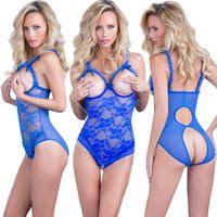 xxl kazak toptan satış-Dantel Seksi Iç Çamaşırı Bayan Moda Lingerie Siyam Jartiyer Pijama Düz Renk Garters Artı Boyutu S-4XL