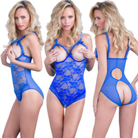 Wholesale womens garters for sale - Group buy Lace Sexy Underwear Womens Fashion Lingerie Siamese Garter Pajamas Solid Color Garters Plus Size S XL