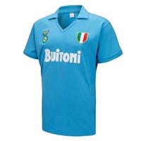 Wholesale football shirts napoli resale online - Retro classic Napoli soccer jersey MARADONA football Sports shirt S XL