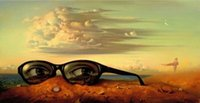 Wholesale digital sunglasses for sale - Group buy Vladimir Kush Forgotten Sunglasses Home Decor Handpainted HD Print Oil painting On Canvas Wall Art Canvas Pictures