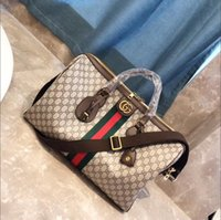 bagagem de viagem vintage venda por atacado-Hot homens mulheres bolsa de viagem de lona de couro duffle bag bagagem bolsas Vintage grande capacidade saco de desporto