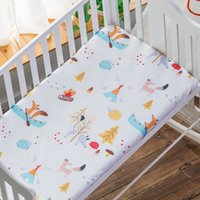 Wholesale reactive cotton printing bedding for sale - Group buy 100 Cotton Crib Mattress Cover Sizes Baby Bed Fitted Sheet Bedspread for Baby Bedding Set Newborns Cot Bedsheet cm