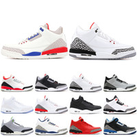 Wholesale game for sale - 3 s Mens Basketball Shoes New Mocha Charity Game Pure White Infrared Fly Black III Sports Shoes Designer Sneakers
