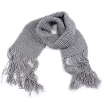 Wholesale crochet scarf tassels for sale - Group buy 2019 New Woman Winter Scarf Solid Knitted Blanket Cashmere Scarf Big Large Cowl Crocheted Long Scarves Shawl Warm Women s Wrap Tassel Scarf