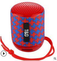 haut-parleur extérieur de bluetooth de mode achat en gros de-Modèles d'explosion TG129 Bluetooth haut-parleur sans fil basse appel téléphonique carte extérieure portable mode cadeau mini audio