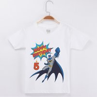 Wholesale number cartoons for kids resale online - New Birthday Number T Shirt For Boy Cartoon Printing Cotton Short Children Clothes Kids T Shirts Boys Clothing Party Tops